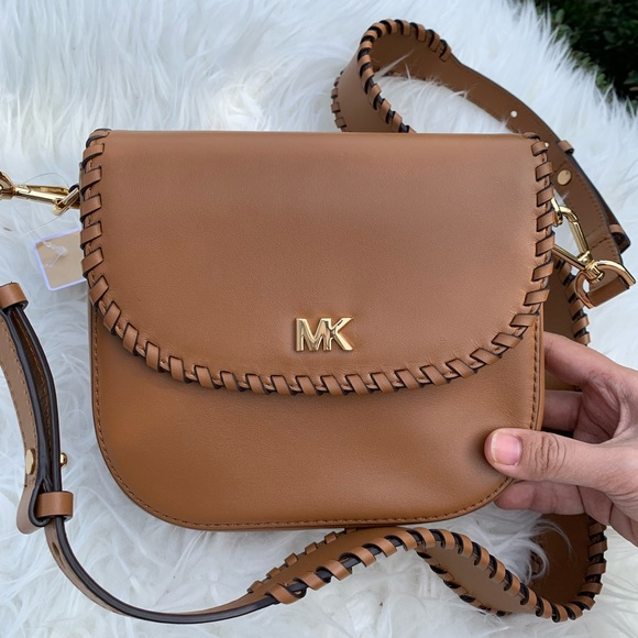 Michael Kors Half Dome Crossbody Leather NWT